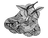 Ręka rysująca różana jabłczana owoc, doodle, ilustracja Fotografia Royalty Free