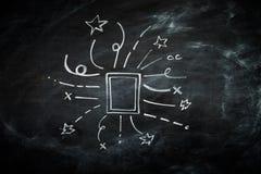 Ręka Rysująca rama na Blackboard Obraz Royalty Free