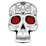 Ręka Rysująca Stylizowana Meksykańska Cukrowa czaszka ilustracji