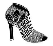 Ręka rysująca szpilki buta ilustracja Zdjęcie Royalty Free
