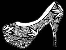 Ręka rysująca szpilki buta ilustracja Obrazy Stock