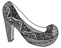 Ręka rysująca szpilki buta ilustracja Zdjęcia Stock