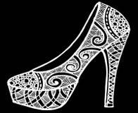 Ręka rysująca szpilki buta ilustracja Fotografia Stock