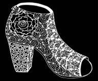 Ręka rysująca szpilki buta ilustracja Obrazy Royalty Free