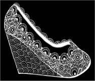 Ręka rysująca szpilki buta ilustracja Zdjęcia Royalty Free