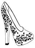 Ręka rysująca szpilki buta ilustracja Fotografia Royalty Free