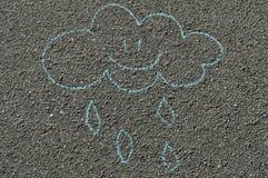 Ręka rysująca uśmiechnięta chmura Zdjęcia Stock