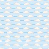 Ręka rysująca wektor chmury ilustracja deseniowy target668_0_ bezszwowy royalty ilustracja