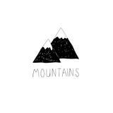 Ręka rysująca wektorowa ilustracja z dzikimi górami Obrazy Stock