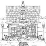 Ręka rysująca wektoru zapasu ilustracja dom ilustracji