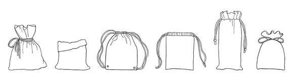 Ręka rysująca zero jałowych eco zdojest dla robić zakupy ilustracja wektor