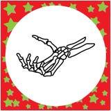 Ręka rysująca zredukowana ręka trzyma niewidzialnego karcianego wektorowego illustrat Zdjęcia Stock
