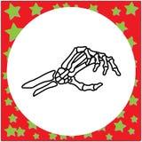 Ręka rysująca zredukowana ręka trzyma niewidzialnego karcianego wektorowego illustrat Zdjęcie Royalty Free