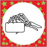 Ręka rysująca zredukowana ręka trzyma pustej karty wektor ilustracyjny Fotografia Royalty Free
