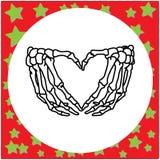 Ręka rysująca zredukowana ręka z serce znaka ilustraci wektorowym iso Zdjęcia Royalty Free