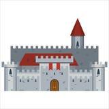 Ręka Rysujący Średniowieczny kasztel Zdjęcie Royalty Free