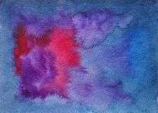 Ręka rysujący abstrakcjonistycznej akwareli multicolor astronautyczny tło zdjęcie royalty free