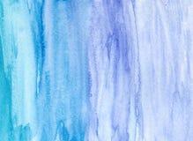 Ręka rysujący akwareli błękita tło Obrazy Stock