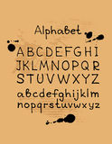 Ręka rysujący alphabet-6 royalty ilustracja