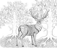 Ręka rysujący atramentu wzór Kolorystyki książka dla dorosłego Obrazy Royalty Free