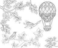 Ręka rysujący atramentu wzór Kolorystyki książka dla dorosłego Zdjęcie Royalty Free