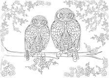 Ręka rysujący atramentu wzór Kolorystyki książki kolorystyka dla dorosłej strony dla kolorystyki książki: bardzo relaksujący i ci Zdjęcia Royalty Free