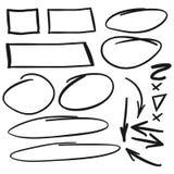 Ręka Rysujący bąbla element I Strzałkowaty nakreślenie set Obrazy Royalty Free