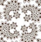 Ręka Rysujący Bezszwowy luksusowy Paisley zdjęcie royalty free