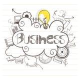 Ręka rysujący biznesowi infographic elementy ilustracja wektor