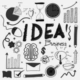 Ręka Rysujący Biznesowy pomysłu set ilustracja wektor