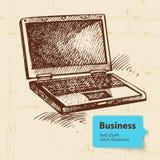 Ręka rysujący biznesowy tło Obrazy Stock