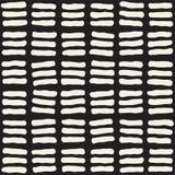 Ręka rysujący czarny i biały atramentu abstrakcjonistyczny bezszwowy wzór Wektorowa grunge tekstura Monochromatyczna geometryczna Fotografia Stock