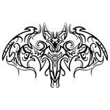 Ręka rysujący dekoracyjny ozdobny doodle nietoperz Obraz Royalty Free
