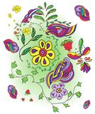 Ręka rysujący dziecinny obrazek Obrazy Stock