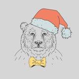 Ręka rysujący dziki niedźwiedź Zdjęcia Stock