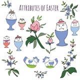 Ręka rysujący Easter atrybuty Fotografia Royalty Free