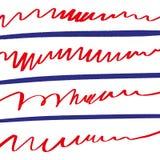Ręka rysujący flagi amerykańskiej patriotyczny tło Stany Zjednoczone pocztówka Dnia Niepodleg?o?ci projekta szablon ?wi?towanie t ilustracja wektor