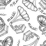 Ręka rysujący gramofon royalty ilustracja