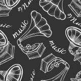 Ręka rysujący gramofon ilustracji
