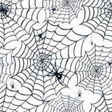 Ręka rysujący Halloweenowy bezszwowy wzór Zdjęcia Royalty Free