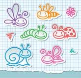 Ręka rysujący insekty royalty ilustracja
