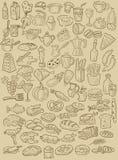 Ręka rysujący jedzenie Fotografia Royalty Free