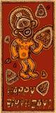 Ręka rysujący karciany wszystkiego najlepszego z okazji urodzin z papuasem Zdjęcie Stock