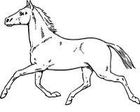 Ręka Rysujący koń Obraz Stock