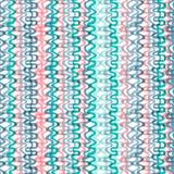 Ręka rysujący kolorowy bezszwowy falowy wzór Fotografia Royalty Free