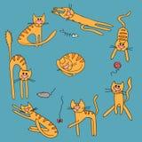 Ręka rysujący kota wzór Fotografia Royalty Free