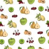 Ręka rysujący kropek owoc wzór Ilustracja Wektor