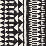 Ręka rysujący malujący bezszwowy wzór Wektorowy plemienny projekta tło Etniczny motyw Geometryczne etniczne lampas linie royalty ilustracja