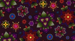 Ręka rysujący mandala, Kwiecistego projekta element Obrazy Stock