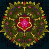 Ręka rysujący mandala, Kwiecistego projekta element Fotografia Royalty Free